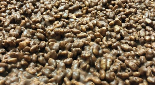 torró d'arròs inflat amb xocolata
